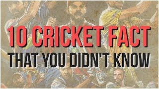 10 cricket fact that you didn't know   Simbly Chumma