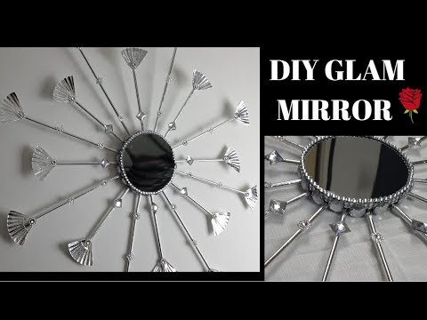 DIY Glam Mirror Cupcakes Gorgeous Wall Art ❤️   Home Décor Dollar Tree Project D9009 ❤️