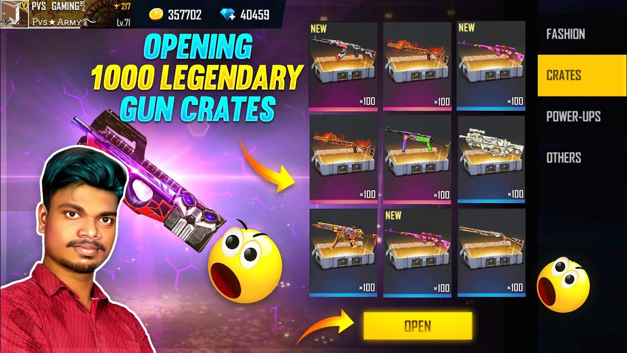 Download 💥Opening All 1000 Legendary Gun Crates Skin 😱 RIP 40000 💎 Tips And Tricks Tamil    PVS