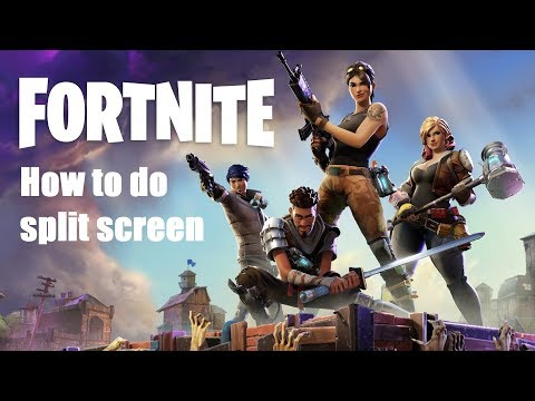 HOW TO DO SPLIT SCREEN ON FORTNITE BATTLE ROYALE WITH THE NEW UPDATE