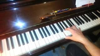 the rosco rhythm piano tutorial off beat blues shuffle