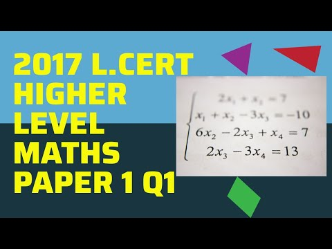 2017 Leaving Cert Higher Level Maths Paper 1 Q1