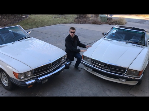 A Tale of Two Mercedes, One was BANNED from the USA. 1985 500SL vs. 380SL