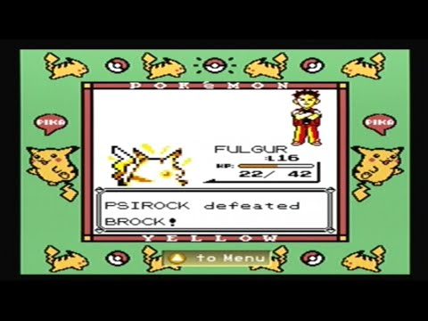 Let's Play Pokemon Yellow (Gifts Only) - Part 3: How To Beat Brock With Pikachu