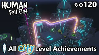 All City Level Achievements/Trophies in Human Fall Flat