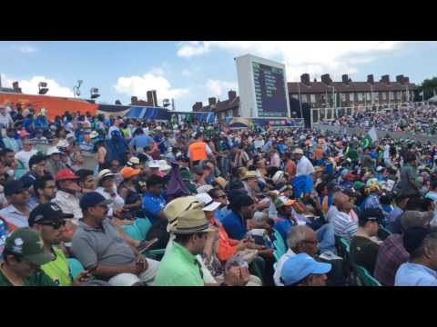 Pakistan india final Indian fans embarrassed  leave stadium  June 2017 oval