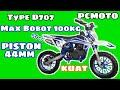 Unboxing Review Mini Trail Pcmoto D707 50cc 2t Matic , Pocket Bike 50cc
