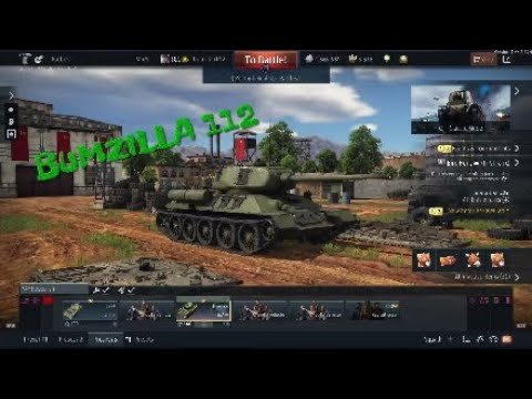 War Thunder ( IS-2 and T-34-85 no depression... no problem )