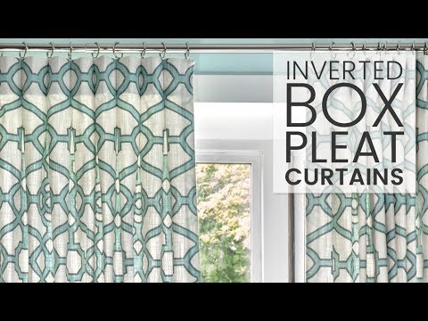 How To Make Inverted Box Pleat Curtains Youtube