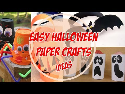 Easy Halloween Paper Crafts Ideas 2017