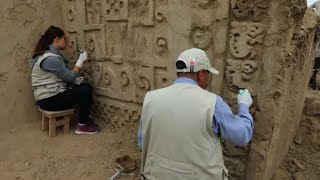 Au Pérou, un site révèle des peintures murales millénaires