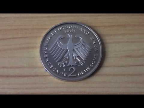 2 Deutsche Mark Münze von 1981 - 2 german mark coin from 1981