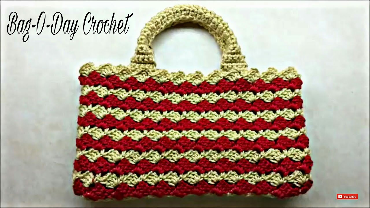 Crochet Bag Tutorial : CROCHET How to #Crochet Look A-Like #PRADA BAG #Handbag #TUTORIAL #203 ...