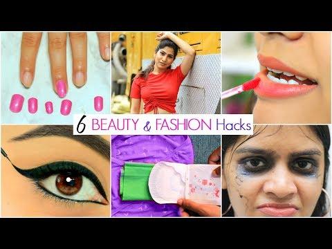 6 Life Saving BEAUTY & FASHION Hacks   #Fun #ShrutiArjunAnand #Anaysa - Видео онлайн