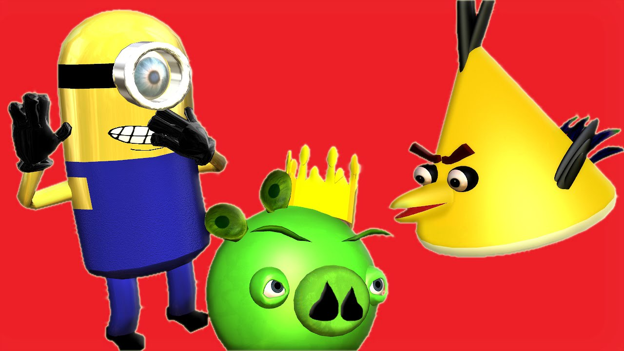 ANGRY BIRDS and the MINIONS ♫ 3D animated DESPICABLE ME ...