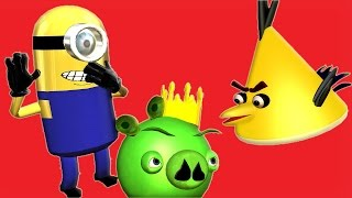 ANGRY BIRDS and the MINIONS ♫ 3D animated  DESPICABLE ME parody-mashup  ☺ FunVideoTV - Style ;-))