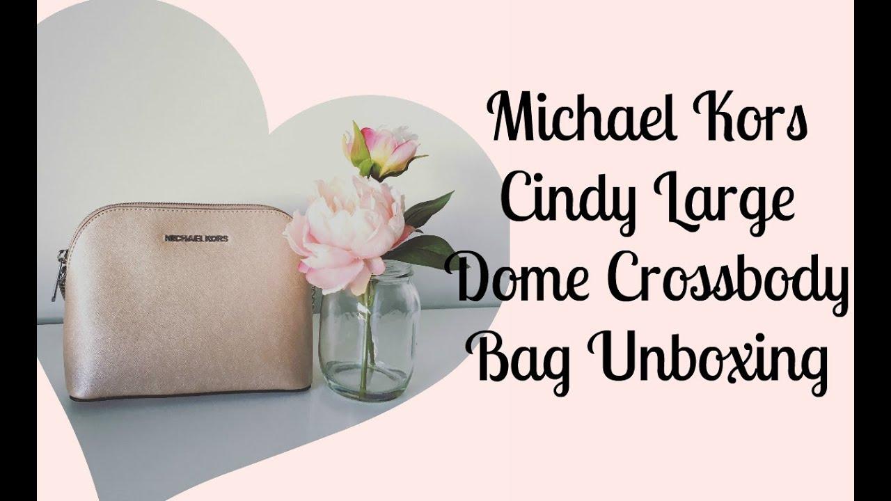 291bfc08f79d Michael Kors Cindy Dome Crossbody Unboxing!   carlyxx - YouTube