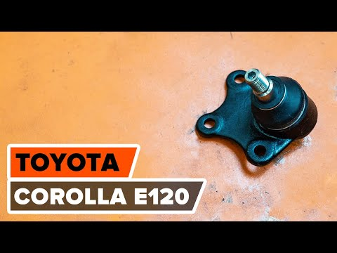 How to replace ball joint on TOYOTA COROLLA E120 TUTORIAL | AUTODOC  YouTube