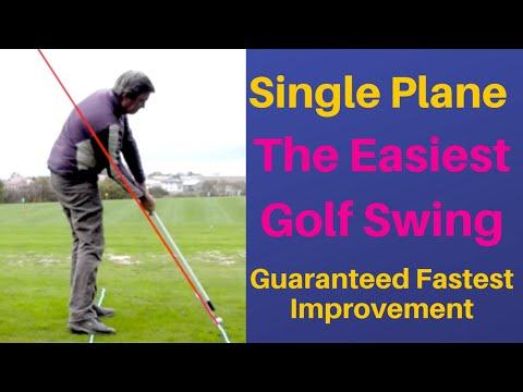 One Plane, Same plane golf swing meet = Easiest most simple golf swing.