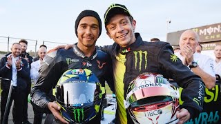 Valentino Rossi vs Lewis Hamilton | Mercedes W08 F1 vs Yamaha M1 2019 MotoGP. Il video integrale
