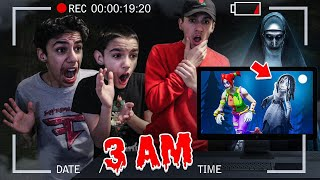 Brothers Play Fortnite at 3AM Challenge! (Scary)