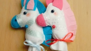 How To Make A Cute Felt Stick Horse - Diy Crafts Tutorial - Guidecentral
