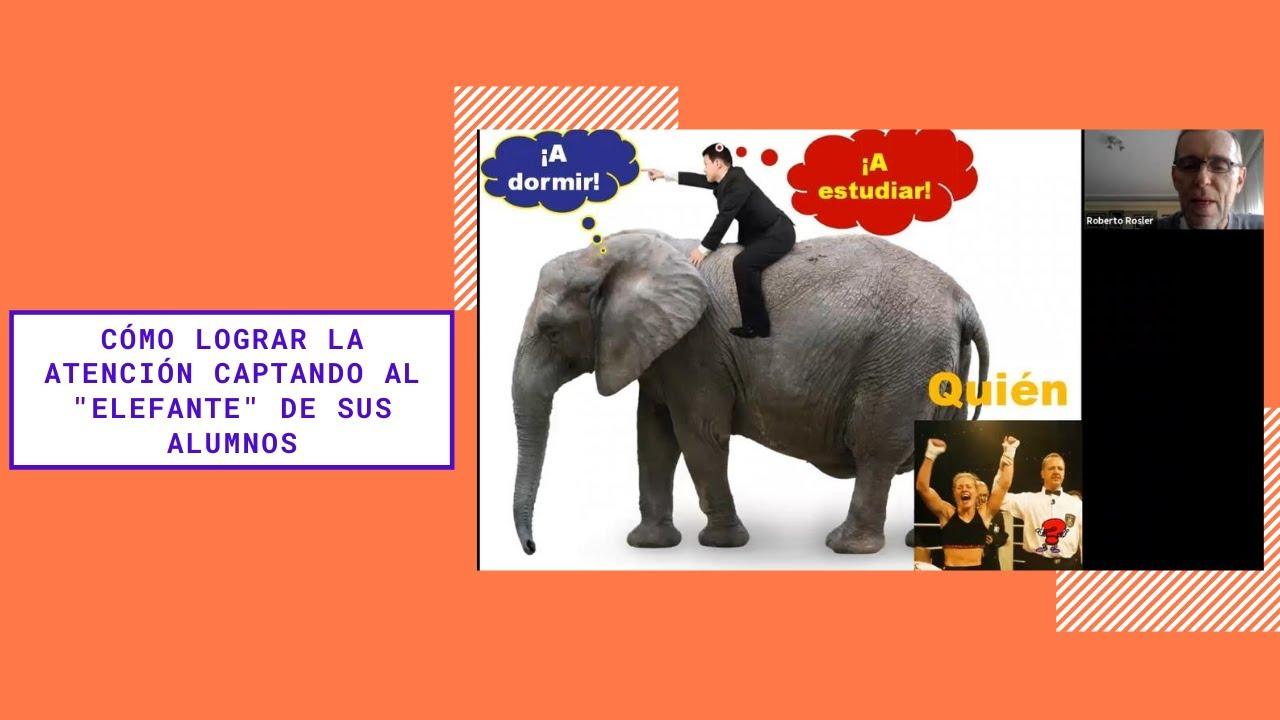 """Cómo lograr la atención captando al """"elefante"""" de sus alumnos"""