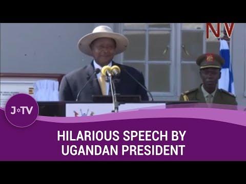 Hilarious speech by Ugandan President at Israel Entebbe Raid commemoration | J-TV