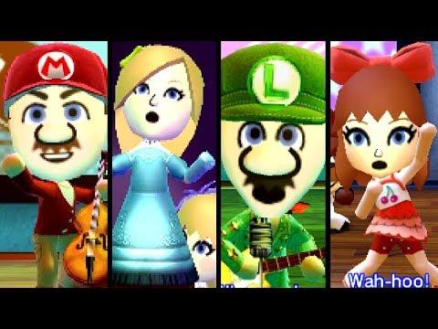 Super Mario TOP 10 SONGS ft. Peach, Pauline & Bowser Miis (3DS)