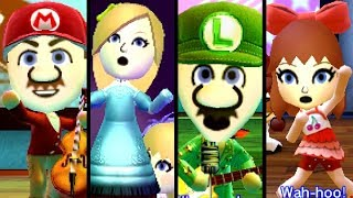 Super Mario TOP 10 SONGS ft. Peach, Pauline & Bowser Miis (3DS)