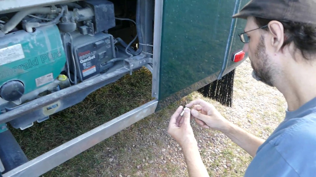 RV Onan Generator Air Filter Replacement - easy to do yourself!