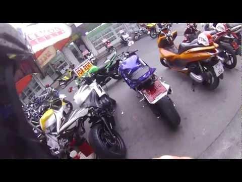 Kawasaki ER6 Motorcycle Camera Pattaya Thailand
