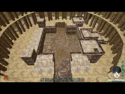 Ark Survival Evolved Creative Building - Roman Coliseum (Coliseum-Gladiator Pit #3) - Stream #12