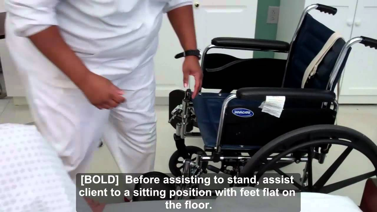 cna essential skills - transfer from bed to wheelchair using