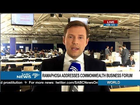 Pres. Ramaphosa to address Commonwealth Business Forum - Paul Barber
