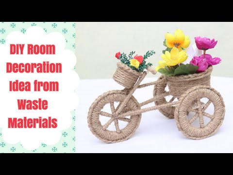 DIY Beautiful Home Decorative Item from Waste Materials/Jute