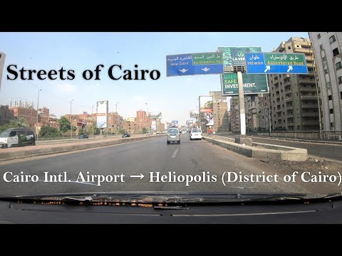 Streets of Cairo - Cairo International Airport → Heliopolis (District of Cairo), 4K