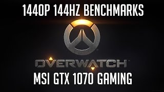 overwatch 144hz 1440p benchmark epic settings with i5 6600k msi gtx 1070 gaming dell s2417dg