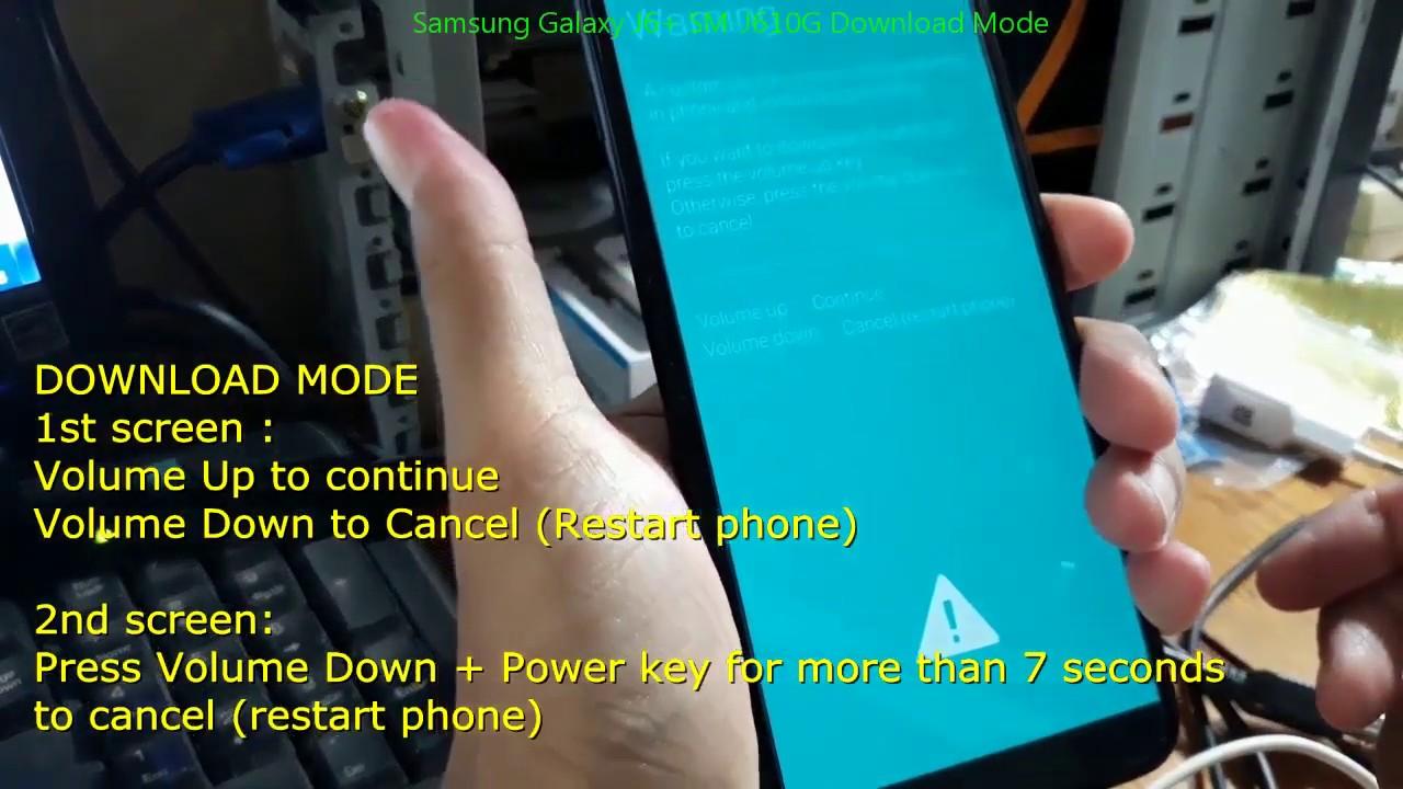 Samsung Galaxy J6+ SM-J610G Download Mode