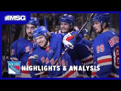 Zibanejad, Trouba, Lundqvist Fuel Rangers' Wild Season-Opening Win | New York Rangers