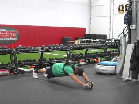 Standing Ab Wheel Rollouts - YouTube