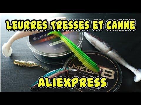 [Divers] Présentation De Leurres, Tresses Et Canne Aliexpress !