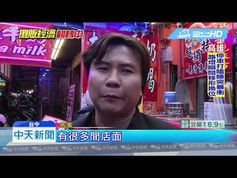 20190314中天新聞 逢甲夜市人潮創新低 攤商盼韓來逛逛