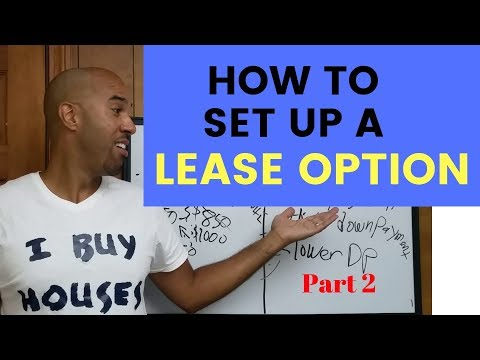 How to set up a lease option and STOP doing rental repairs! part 2