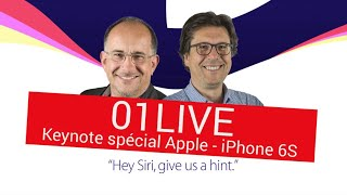 01LIVE SPECIAL Keynote Apple iPad Pro et iPhone 6S (replay)