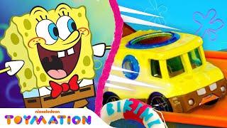 SpongeBob Toy Cars Super Speed RACE In Bikini Bottom! 🚗 | Toymation