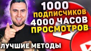 Монетизация YouTube 2021. Как набрать 1000 подписчиков и 4000 часов просмотров