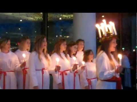 St. Lucia Procession at House of Sweden
