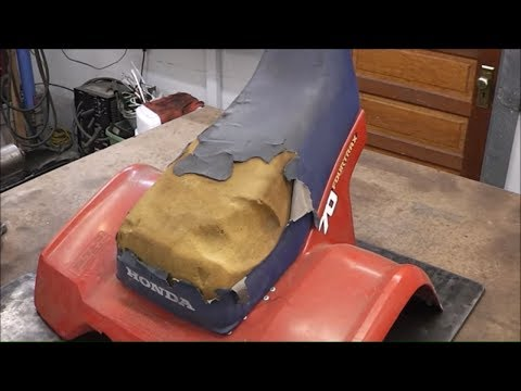 Honda ATV TRX70 Gets a Seat Repair and Seat Cover Upholstery Pt.3