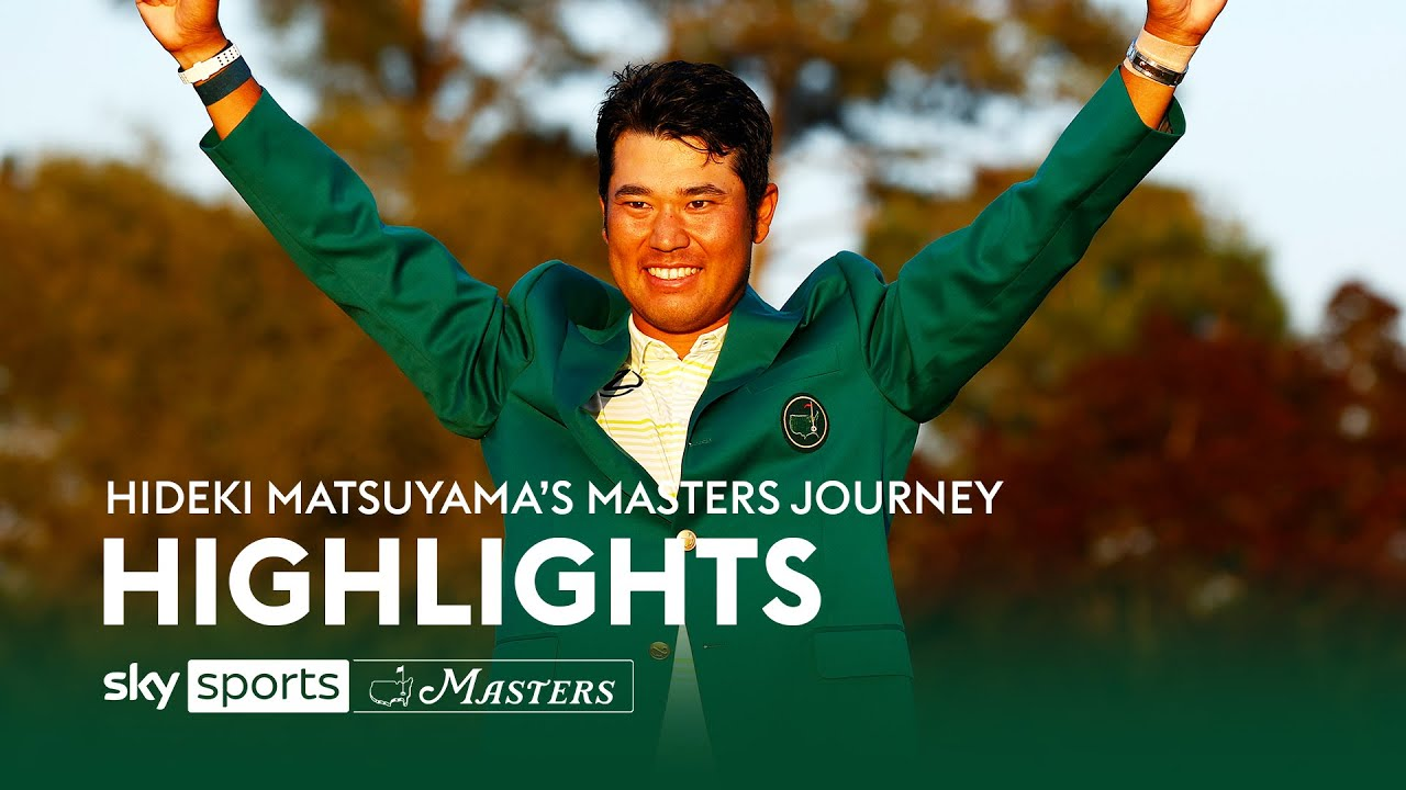 Hideki Matsuyama becomes Japan's first male major champion! 🏌️ | Masters | Final Round Highlights